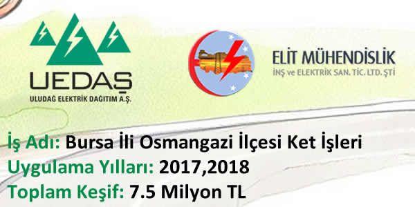 UEDAŞ Ket İhalesi (2017-2019) Osmangazi Grubu Elit Sorumluluğunda